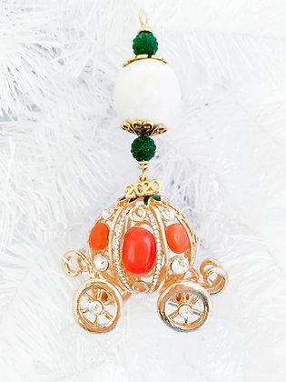 orange opal princess carriage ornament