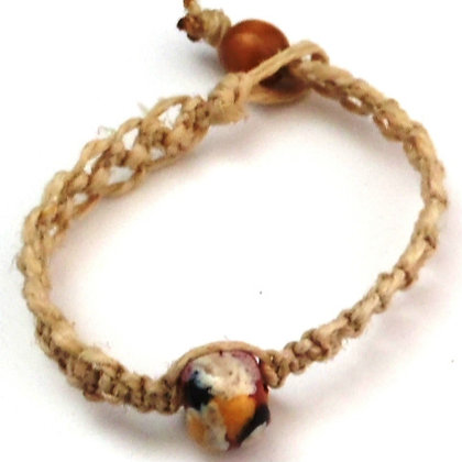 brown and black blotch macrame bracelet
