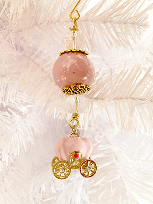princess carriage ornament small pink