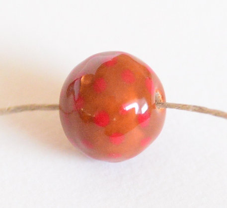 brown with red round ball - assorted