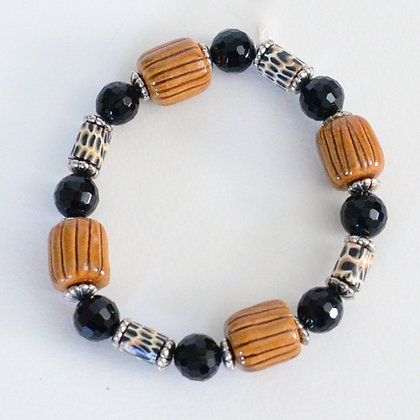 brown & black leopard bracelet