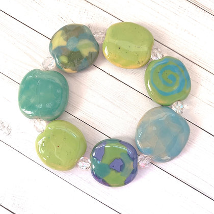 shades of green and blue budget bracelet