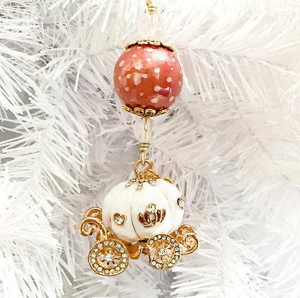 white princess carriage ornament