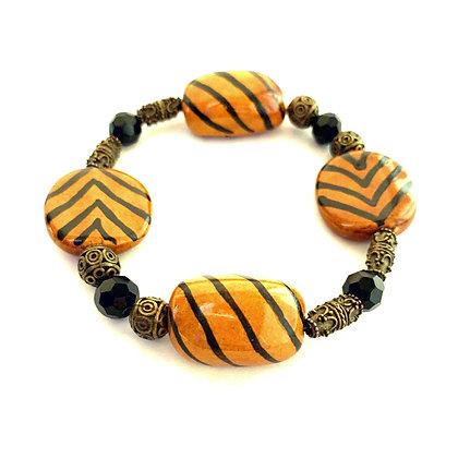 honey brown with black stripes bracelet