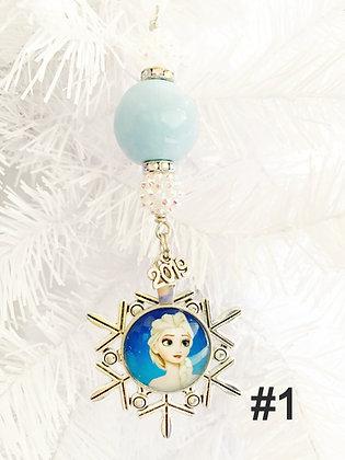 light blue frozen ornament - assorted