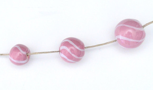 petal pink with white stripes round