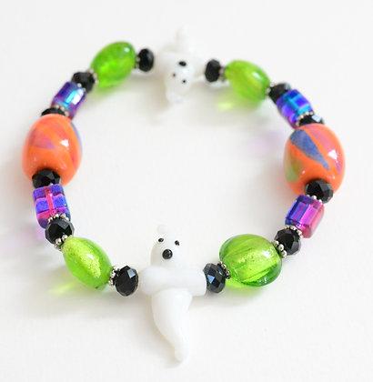 orange and green ghost bracelet