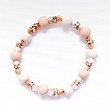 shades of neutral stackable bracelet