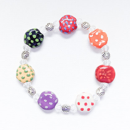 bright multi-color dots stackable bracelet