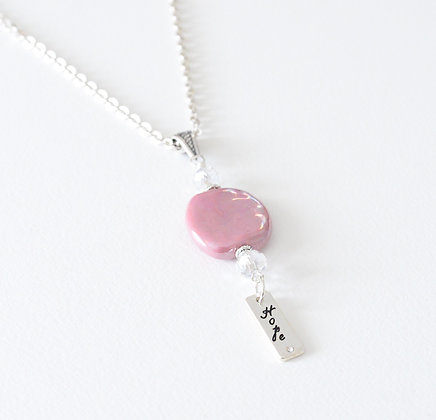 pink hope necklace