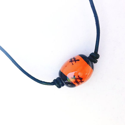 orange and black choker