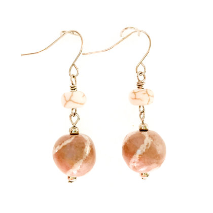 brazilian brown jazzy stripe earrings