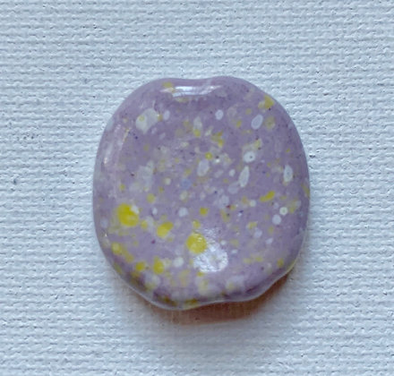 lilac with white & yellow speckle pita pat