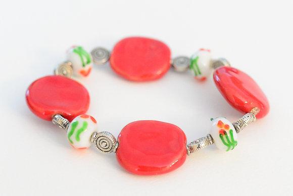 red christmas bracelet