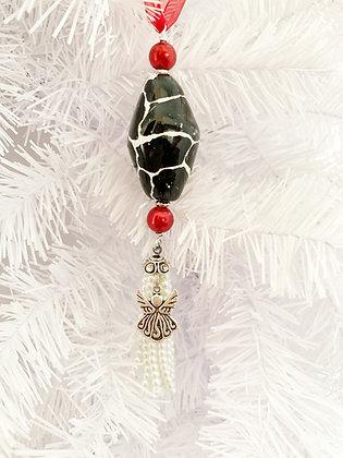 angel giraffe print ornament