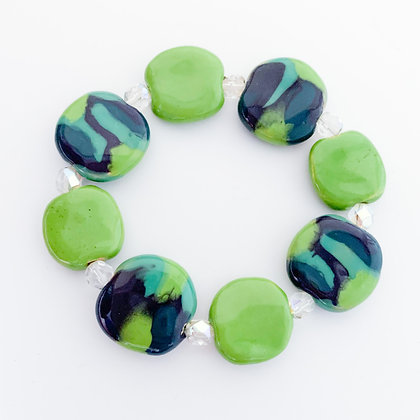 purple and apple green jambo budget bracelet
