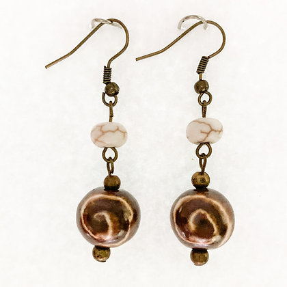 brown porini earrings