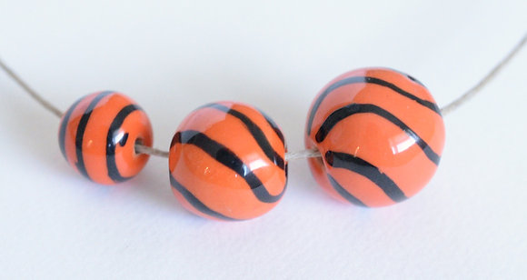 orange with black stripes - assorted sizes
