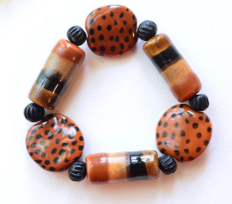 brown and black bracelet