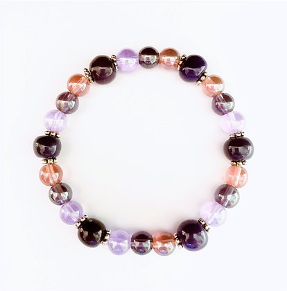 shades of purple stackable bracelet