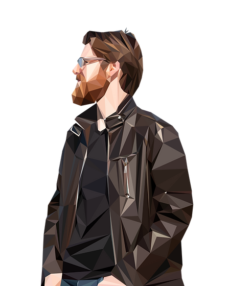 Polygon Portrait - me (empty background)