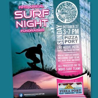 MORRO BAY HIGH SCHOOL — SURF NIGHT POSTER