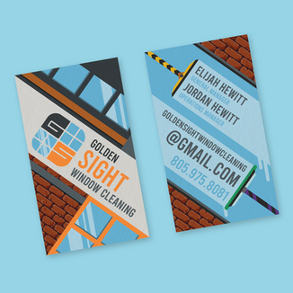 GOLDEN SIGHT WINDOW CLEANING — BUSINESS CARD