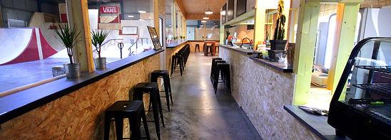 Snack Bar du Skatepark avec une vue panoramique