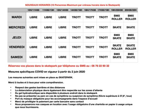 Attention Nouveaux Horaires et Nouvelle Procédure ! !