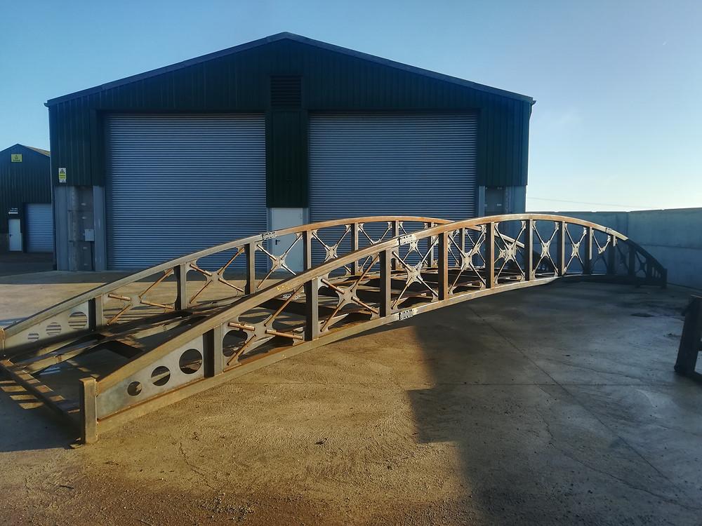 Access bridge steelwork