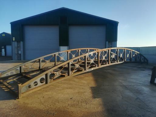 Bridge steelwork completed