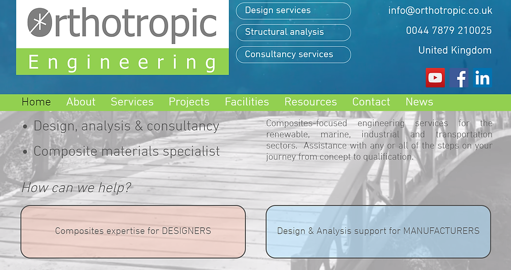 Orthotropic Engineering, Website, Composites engineering, Structural analysis