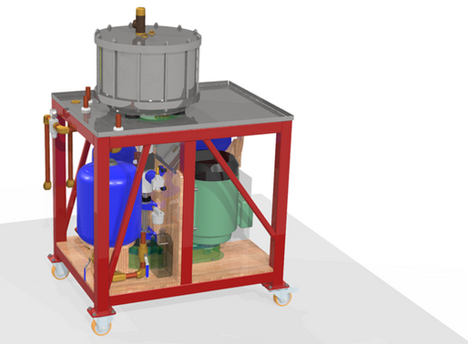 Orthotropic designs test rig for RheEnergise