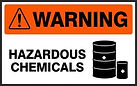 Warning Safety Signs - Hazardous Chemicals