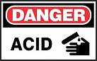 Danger Safety Sign - Acid