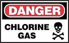 Danger Safety Sign - chlorine gas