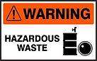 Warning Safety Sign - Hazardous Area