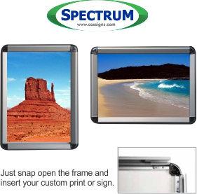 "Snap Frame  - 8.5"" x 11"" / Round Corners  - TEN PACK - @$16.24"
