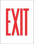 Exit Sign - Single sided