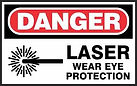Danger Safety Signs - Laser Wear eye protection