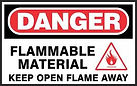 Danger Safety Signs -Flammable Materisl