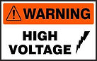 Warning Safety Sign - High Voltage