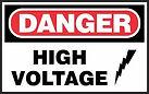Danger Safety Signs - high voltage