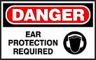Danger Safety Sign - Ear Protection Required
