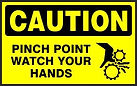 Cautiion Safety Sign - Pinch point watch your hands