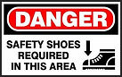 Danger Safety Sign - Safety Shoes required