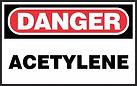 Danger Safety Sign - acetylene