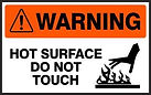 Warning Safety Sign - Hot Surface Do Not Touch