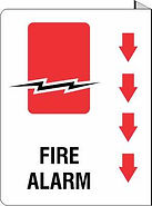 Fire Alarm Projecting Sign - Double Sided