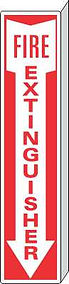 Fire Extinguisher Projecting Sign - Double sided